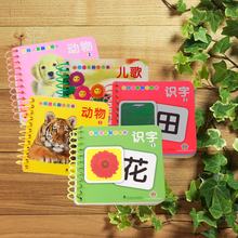 5 books/set ,Chinese characters cards books with pictures and pin yin for bady including animal ,literacy , children's song(China)