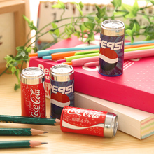1 X Random Color Mini Cola Pencil Sharpener Cutter Knife School Student Stationery Supplies