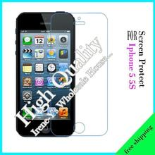 10x Screen Protectors Film Front and Back 2 sides For iPhone 5 high definition film + Cleaning cloth