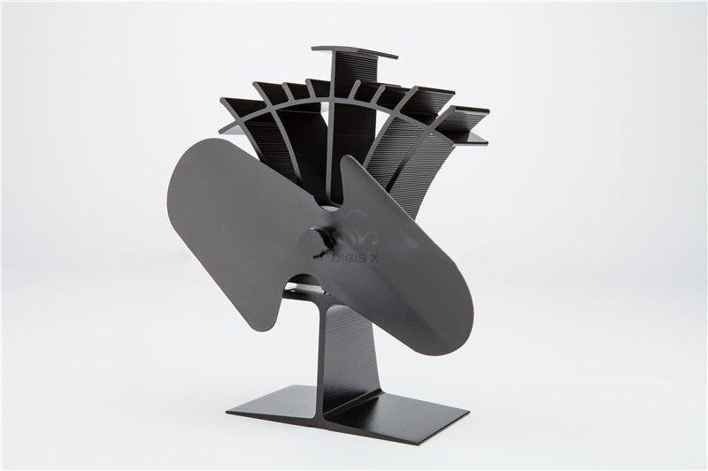 2 Blade Heat Powered Stove Fan Stove Top Fan 16% Fuel Saving Ecofan Mini Fan<br>