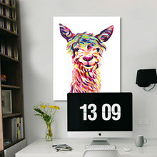 digital paint by numbers  Alpaca  modular painting  diy oil painting  coloring by numbers  drawing practice for kids