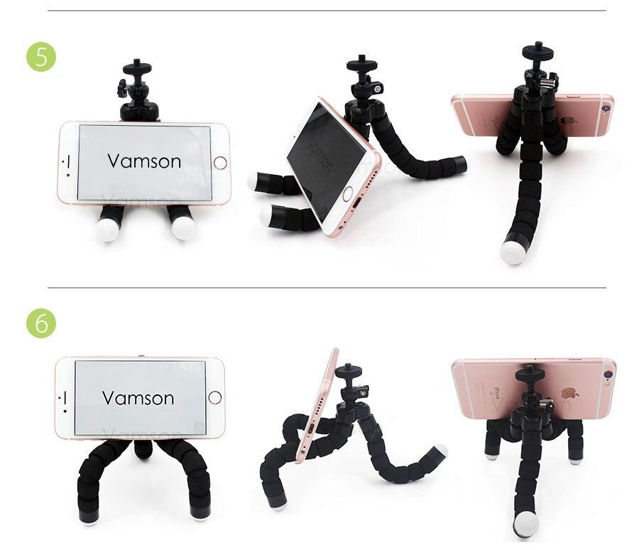 Xiaomi Yi Accessories Octopus Tripod Head Strap Floaty Bobber Monopod For Gopro Hero 5 4 3+ SJCAM SJ4000 Action Camera VS48
