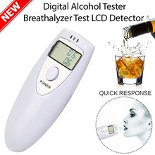 1Pcs Professional Alcohol Analyzer Police Digital Breath Alcohol Tester HX-64 LCD Display Breath Analyzer alcohol Tester