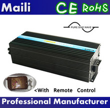 CE,RoHS,LVD,SGS Approved,Pure Sine Wave Power Inverter 6000W 24V 220V with Remote Controller(China)