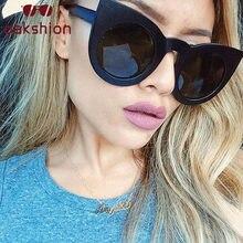 Mulheres Do Desenhador Do Vintage Óculos Oversized Óculos de sol Quadro Do  Gato Olho Óculos de ceb7f5762d