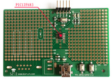 Microchip PIC12F683-I/SN  single-chip development board