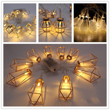 Trecaan New led iron diamond water droplets love battery box light string children bedroom Christmas night light wholesale(China)