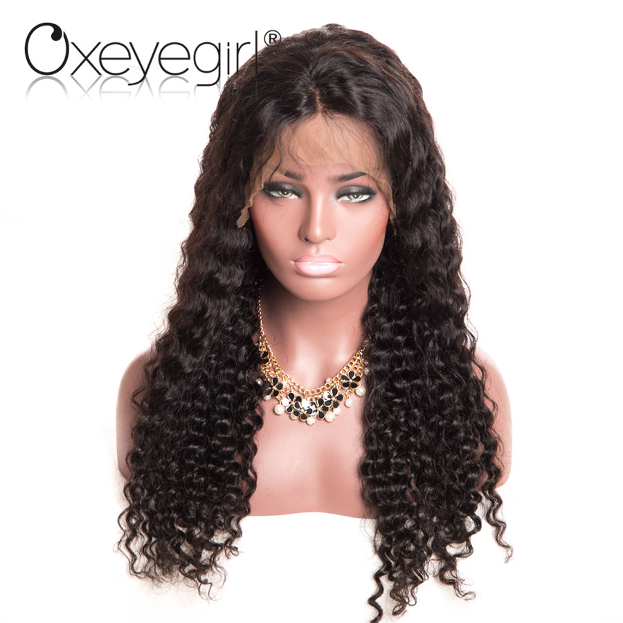 HTB10KnrQpXXXXchXXXXq6xXFXXXU - Oxeye girl Lace Front Human Hair Wigs With Baby Hair Deep Wave Brazilian Hair Wigs For Women Natural Black None Remy Lace Wig