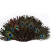 100pcs 25-30cm Natural Peacock Tail Feathers Eyes Feathers Decorations For Craft Art Dress Hats Bridal Costume Home Decoration