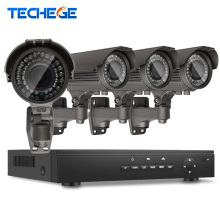 4CH POE 48V NVR 1080P 2.8-12mm Varifocal Lens Zoom 1.3 MP adjustable lens 960p IP Camera CCTV System Video Surveillance System