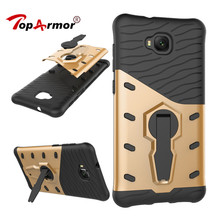 TopArmor For Asus Zenfone 4 Selfie ZD553KL Case Shock proof 360 swivel Stand Netted Armor Anti-knock For ASUS ZD553KL Cover Bags(China)