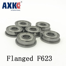 Buy 2018 10pcs 3d Printer Accessories Parts F623 Zz Flange Bushing Ball Bearings F623zz 3*10*4 Mm Pulley Bearing Guide Wheel Abec5 for $10.31 in AliExpress store