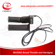 Electric Scooter Grips WUXING 48V Twist Throttle Bike/ Bicycle Throttle&Hand Battery Indicator - YONGKANG CHIHUI INDUSTRY & TRADE CO., LTD store