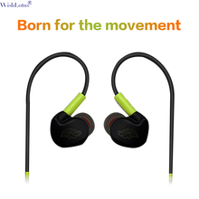 WishLotus  wired heavy bass headset ear wound in-ear anti-sweat running sports earphones with microphone fully compatible headph