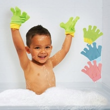 Buy Baby Cotton Wash Mitt Glove Bath Fun Practice Bathing Washing Self for $5.99 in AliExpress store