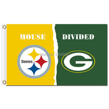 Pittsburgh Steelers Banner Green Bay Packers Flag World Series Football Team 3ft X 5ft Steelers And Green Bay Packers Flag(China)