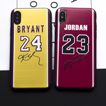 Luxury Brand Basketball Jersey to Sign Jordan 23 Bryant 23 soft silicon Case For iphone 7 8 Plus X 5s SE 6 6s Plus Phone cover(China)
