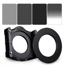 Zomei 6 in 1 Square Z-PRO Series Filter Holder Support + Adapter Ring + Full Grey ND2+ND4+ND8 + Gradual Grey ND4 150*100