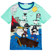 Baby Boy T shirts for Children Clothing 2017 Brand Summer Clothes Boys Short Sleeve Shirt Print 100% Cotton Kids Tee Shirt Fille