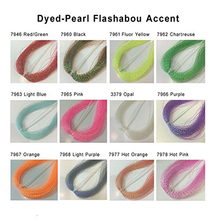 Riverruns Dyed-Pearl Flashabou Accent and Flashabou Accent & Grizzly Accent 12 Color Combo Realistic Fly Tying Materials Dry