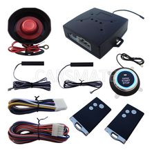 Smart Key Car PKE Alarm System With Push Start Stop Button Passive Keyless Entry Remote Engine Start Auto Lock Door