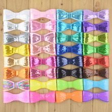 16pcs/lot 3.94 Inch 32C girls Bowknot Applique Embroidered Sequin Bows For Kids DIY Headbands Hair Accessories HDJ25