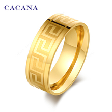 CACANA Titanium Stainless Steel Rings For Women Surround Pattern Nice Fashion Jewelry Wholesale NO.R51(China)