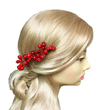 6pc Berries Hairpin Wedding Hair Accessories Wide Fruits Hair Pin Clips For Women Bridal Head Pieces Pince Cheveux WIGO1051