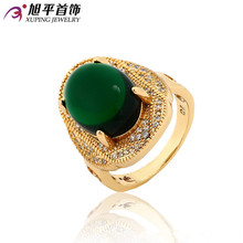 Xuping Fashion Ring 2017 Luxury Top Sale Rings for Women Gold Color Plated Synthetic CZ Jewelry Promotion Party Gift 12846