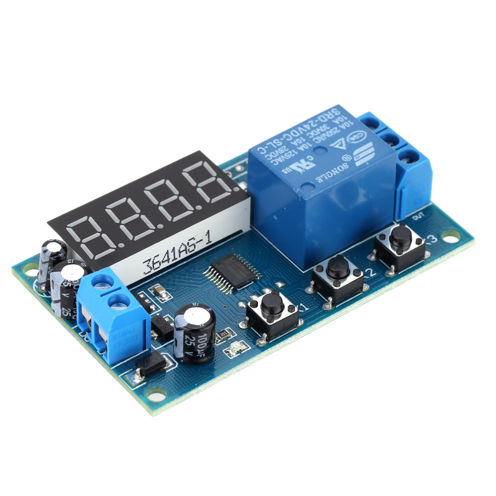 Multifunction Delay Time Relay Module Timing Switch Control Cycle Timer DC 12V LED Display Intelligent Control Time Relay/Delay(China)