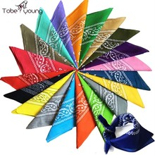 1 pc New Unisex Cotton Hip-hop Square Bandanas for Male Female Head Scarf Scarves Wristband Fashion Bicycle Motorcycle Hot Sale
