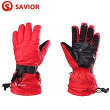 SAVIOR Brand Winter Outdoor Sports Skiing Heated Gloves Electric Heating Mountaineering Gloves Lithium Battery men and W