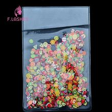 F.Lashes 1000Pcs/Set 3D Fruits Series Polymer Clay DIY Nail Art Tip Sticker Decoration Decal Nail Patch Cell Phone Beauty(China)
