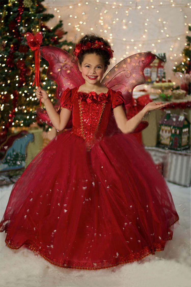Fashion girls dresses fall 2016 kids two pieces set princess elsa anna red christmas costume<br><br>Aliexpress