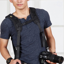 Free shipping CADEN personalized vintage black rapid Quick Strap Double Shoulder Belt sling Strap DSLR Cameras