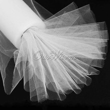 "White Tulle Roll Spool 12""x25YD DIY Tulle Fabric for Wedding Party Favors Decoration Home Decor High Quality"