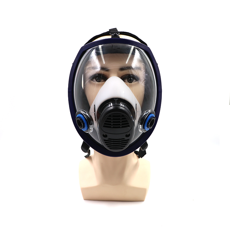 6800 Military Gas Mask Spray Paint Respirator Full N95 Maskfor Chemicals,Fumes, Pesticide Blue Only Body<br>