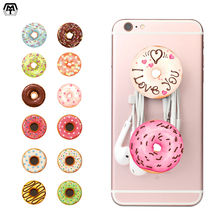2017 Colorful Doughnut Pattern POP Finger Ring Socket Anti-fall Smartphone Mobile Phone Desk Stand Grip Mount For iPhone Xiaomi(China)