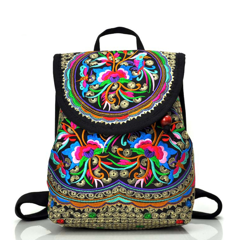 Ethnic Style Women backpack vintage backpacks for teenage girls casual embroidery bags travel backpack women bag mochila feminin<br><br>Aliexpress