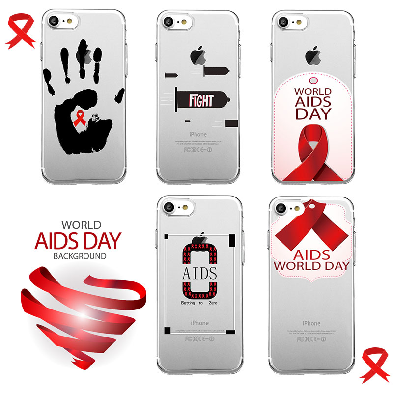 WORLD AIDS DAY Blood Sexual Condom Red Ribbon Soft TPU Fundas Phone Cases Cover for Apple iPhone 5s 6s 7 7plus Case Capa Cover(China (Mainland))