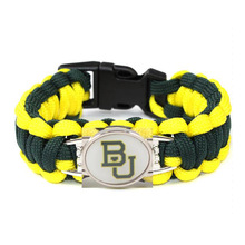 Outdoor Camping Paracord 550 Survival Bracelet Baylor Bears Military Emergency Bracelet Men Women Umbrella Rope Charms Bracelet(China)