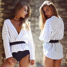 Buy Women Ladies Clothing Tops Long Sleeve Striped Fashion Shirt Casual Blouse Tops Loose Clothes Women for $5.72 in AliExpress store
