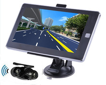 Reverse Parking System,7 inch car GPS Navigation 128M/4GB CPU800Mhz+Wireless Rear View camera+free latest maps