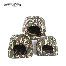 Ortilerri Cute Fluff Autumn And Winter Soft Dog House  Pet Bed Mongolia Camouflage Foldable Dog Nest Pet Supplies S M L 2016