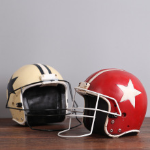 D American football helmet retro resin decoration old coffee shop Home Furnishing helmet decorations