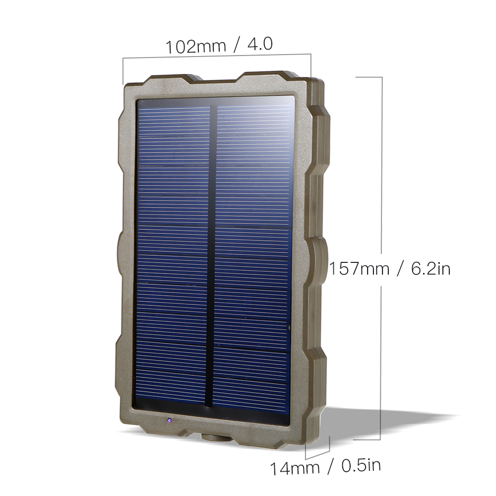 Outdoor Hunting Camera Battery Solar Panel Power Charger External Panel Power for Wild Camera Photo-traps H801 H885 H9 H3 H501 (9)