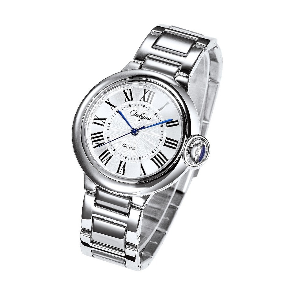 Wrist Watch For Men Japan Roman Numerals Quartz Analog Movement Stainless Steel Watchband Relogio Masculino 82001<br>
