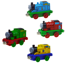 4PCS Thomas alloy Trains Model Toy Magnetic Train Great Kids Christmas Toys Gifts for Children Boys Girls(China)