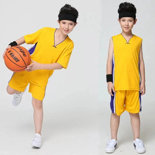 2017 Kids/Children Basketball Jersey Training Maillot de Basketball Tracksuit/Camiseta/Jerseys/Shorts For Girls/Boys Custom