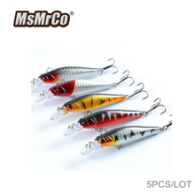 MsMrCo 1 Set 5 Pcs 8cm 9g Minnow Fishing Lures Carp Fly Fishing 3D Eyes Hard Artificial Bait Bionic River Wobblers Ice Lure Kit